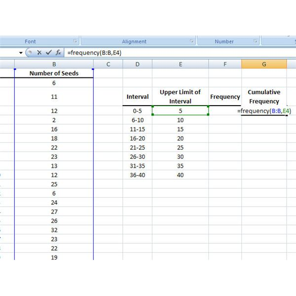 How to use the frequency function in microsoft excel cumulative frequency formula ccuart Images
