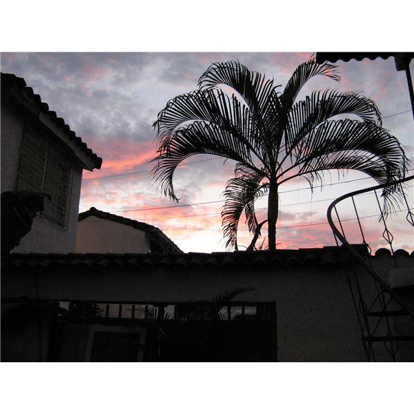 silhouette of house in Cali IMG 2045