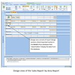 Sales Report Design View