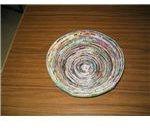 Wrap strips to make 25 cm spiral