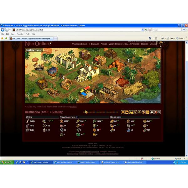 Review: Immortal Cities Niles Online - Browser MMO Game