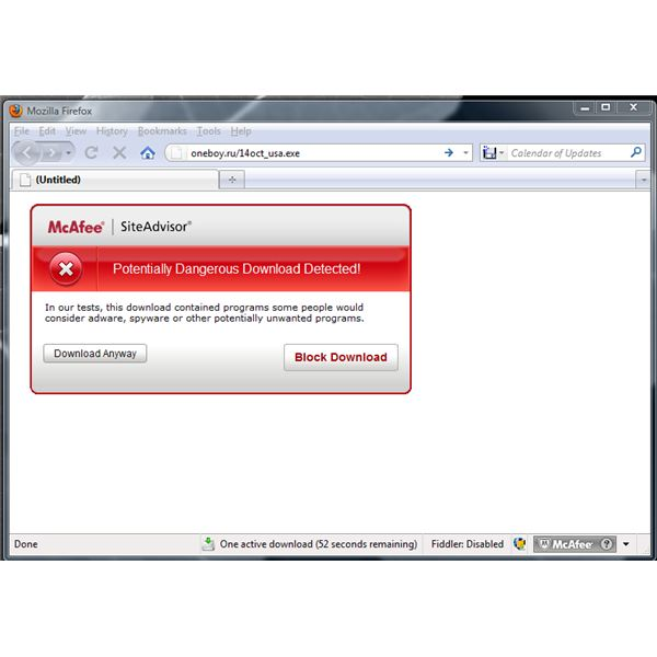 McAfee Detected Unsafe File: Trojan