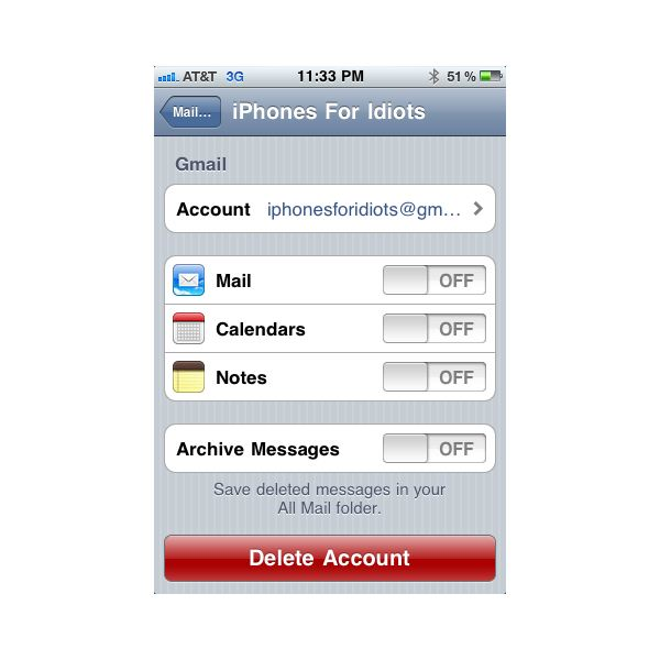 iPhone Email Account Options
