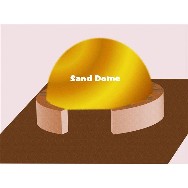 Making a Sand Dome for Support