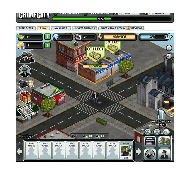Facebook Games: Crime City Review - mafia games online