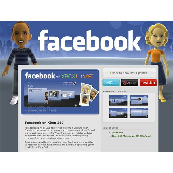 Facebook On Xbox Live