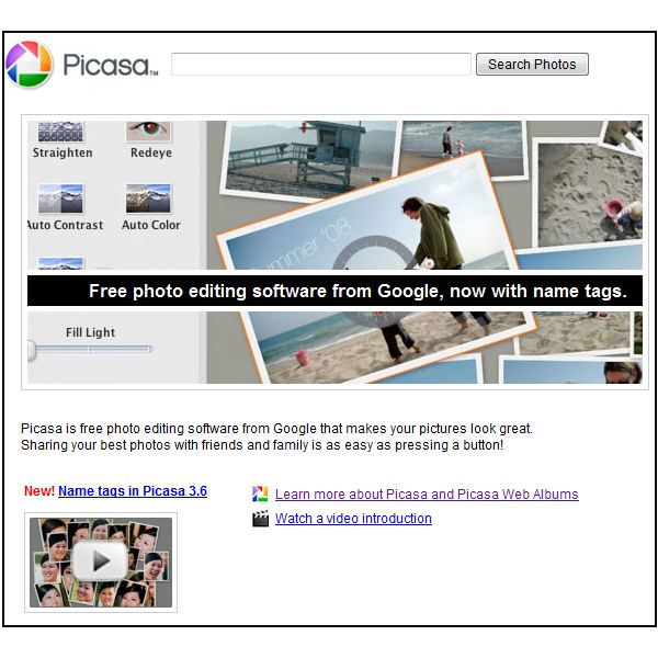 Picasa 3 Download Page: A Great Alternative to iPhoto for Windows Users