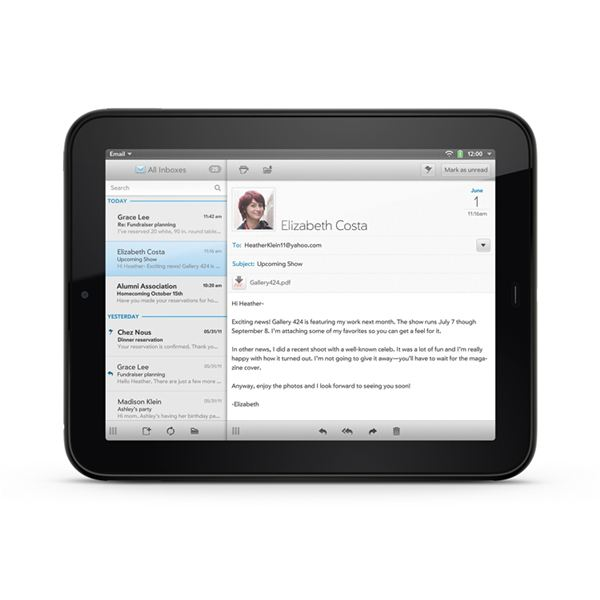 Email on the HP TouchPad