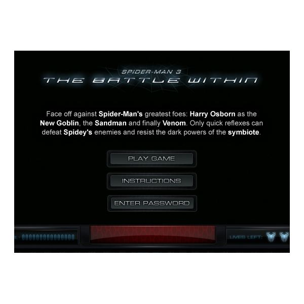 Free online spiderman games--Spiderman 3 The Battle Within