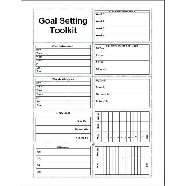 objective setting template - 8 goal setting freeware options for helping you meet all