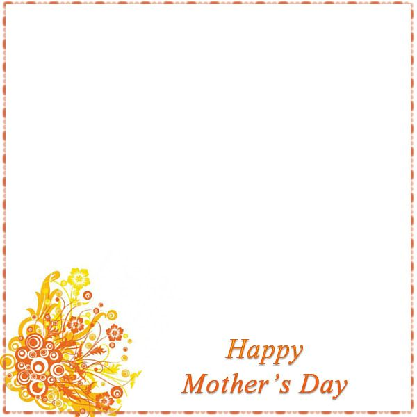 Yellow and Orange Floral Mother's Day Border