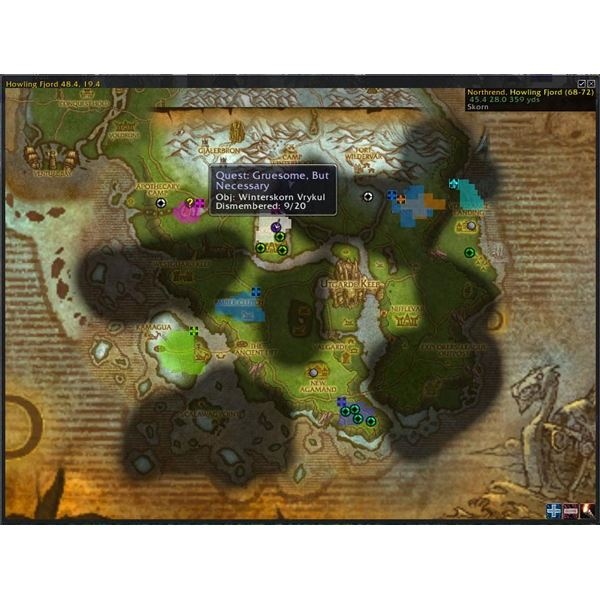 World of Warcraft Quest Maps