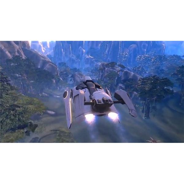 Flying around in a dropship