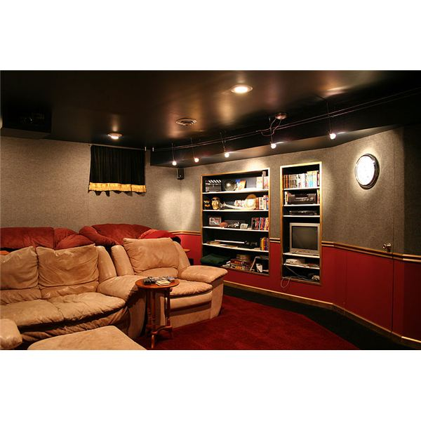 Fig 1 Home Theater With Concealed Wires