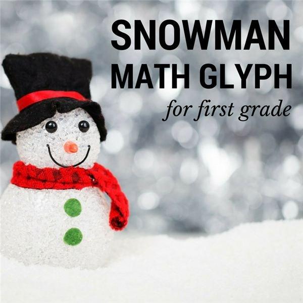 Snowman Math Glyph for First Grade