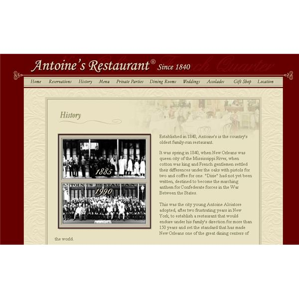 Screenshot Antoine's Restaurant