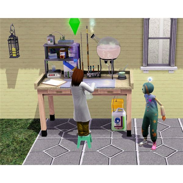 The Sims 3 imaginary friend and chemistry set