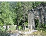 Ruins of Stalins summer-house by the lake Ritsa
