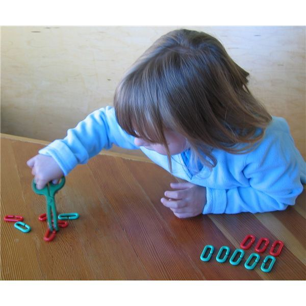 Toy pliers develop coordination for cutting