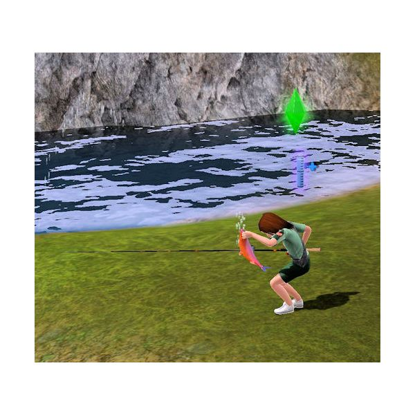 The Sims 3 scout fishing