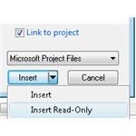 Insert a file as read-only or linked, or both