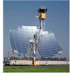 solar parabolic dish stirling engine unit