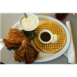 Chicken and waffles - a perfect southern meal