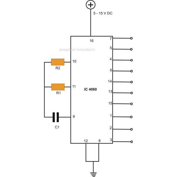 How to Make Interesting IC 4060 Circuits Base Pin Timer Wiring Diagram on flip flop circuit diagram, leslie 9-pin diagram, 8 pin cube relay diagram,
