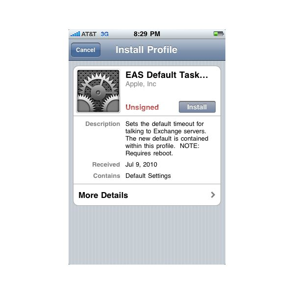 Repairing the iPhone Exchange ActiveSync Problem from the