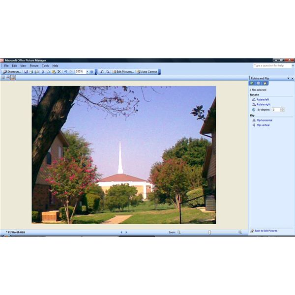 Microsoft Picture Manager - Rotate and Flip
