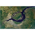 Satellite picture of a section of the Congo River
