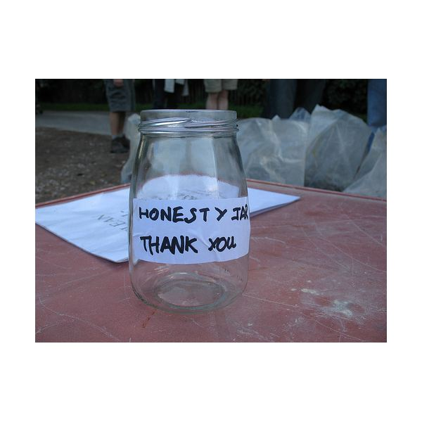 The Stonegate Walk Honesty Jar.