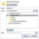 Editing Bookmarks