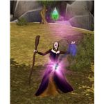 The Sims Medieval Wizard Performing Spell