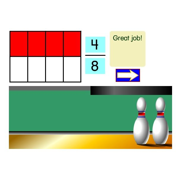 Math Games - Bowling for Fractions