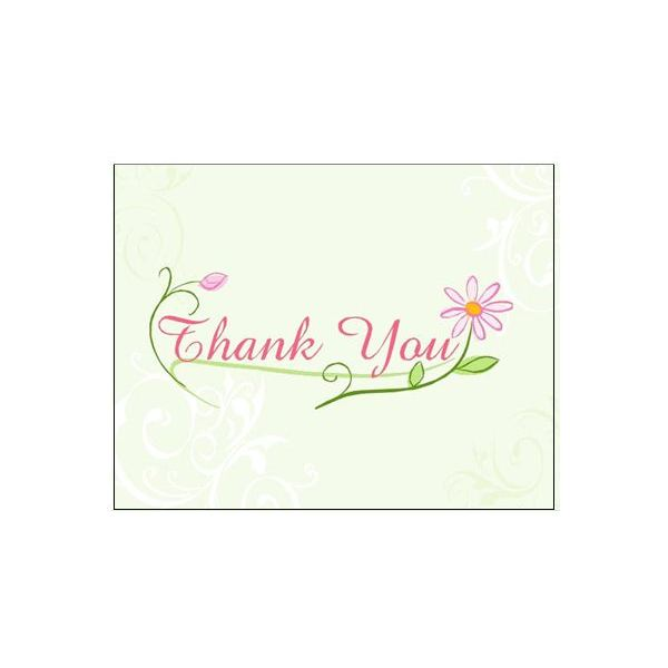 Thank You Postcards: Floral