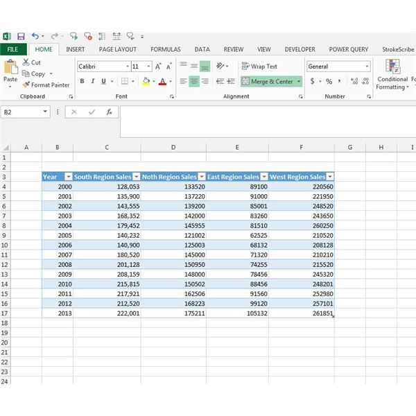 Figure 1: Excel Data