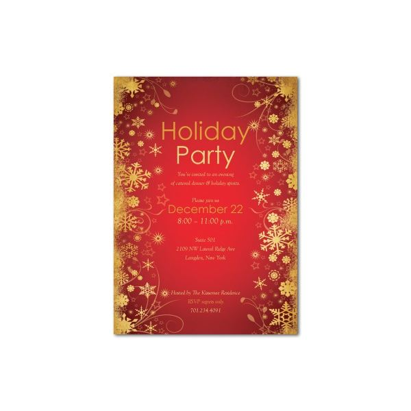 Top 10 christmas party invitations templates designs for parties of all sizes for Free holiday invite templates