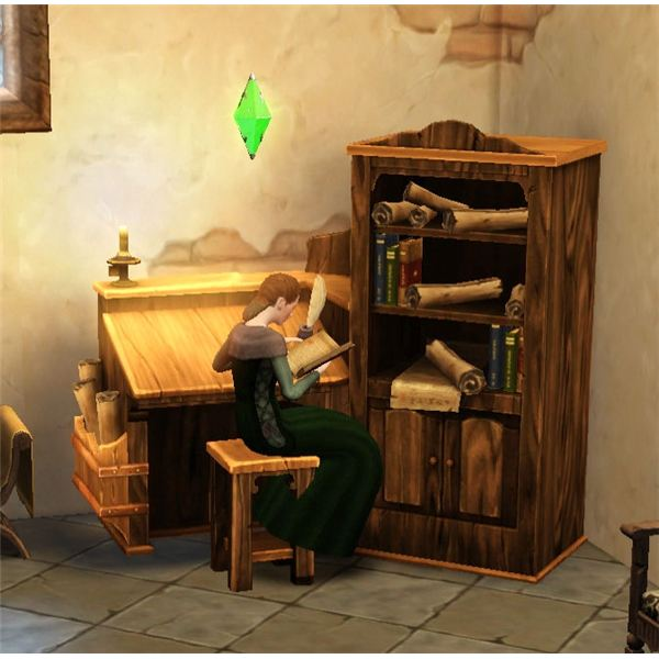 The Sims Medieval Physician Researching