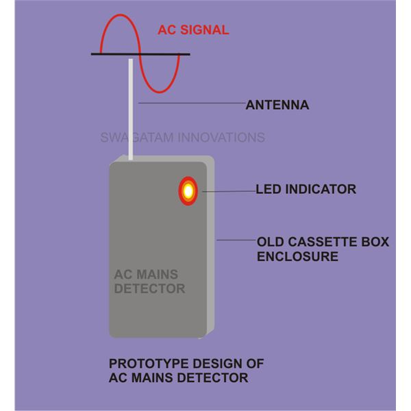 how to build a simple non contact ac voltage detector, sensor