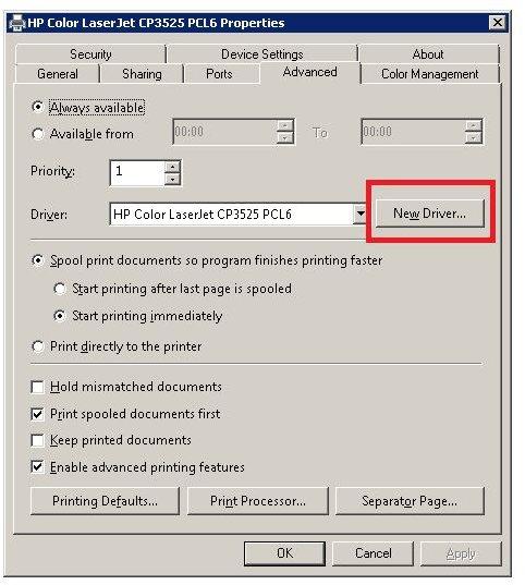 New Printer Drivers
