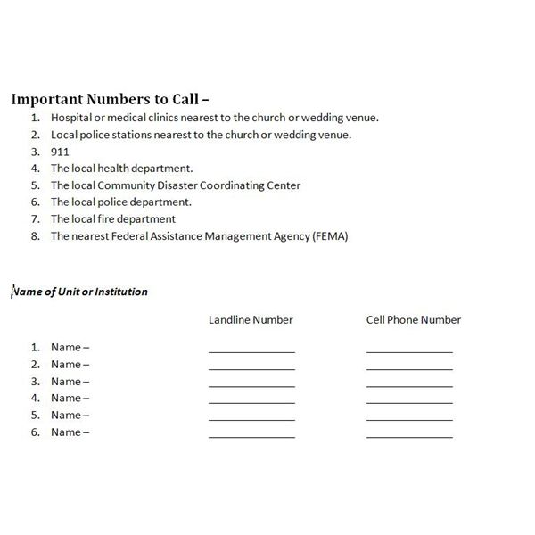 Important Numbers To Call
