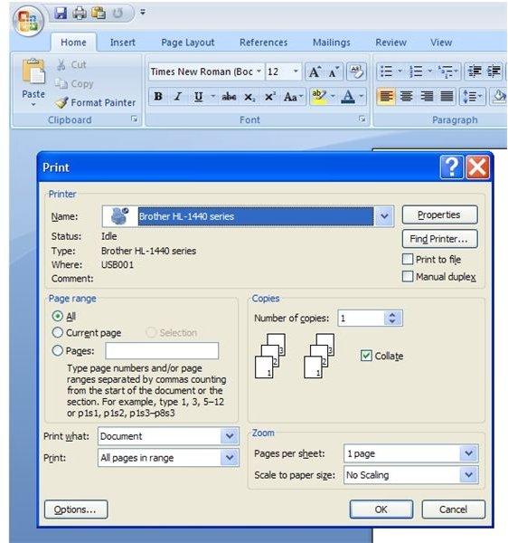 microsoft word 2007 keyboard shortcuts