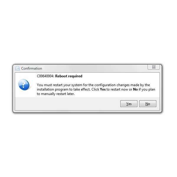 Restart to Continue Install