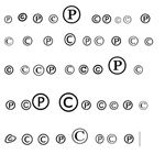 Copyright and Patent symbols