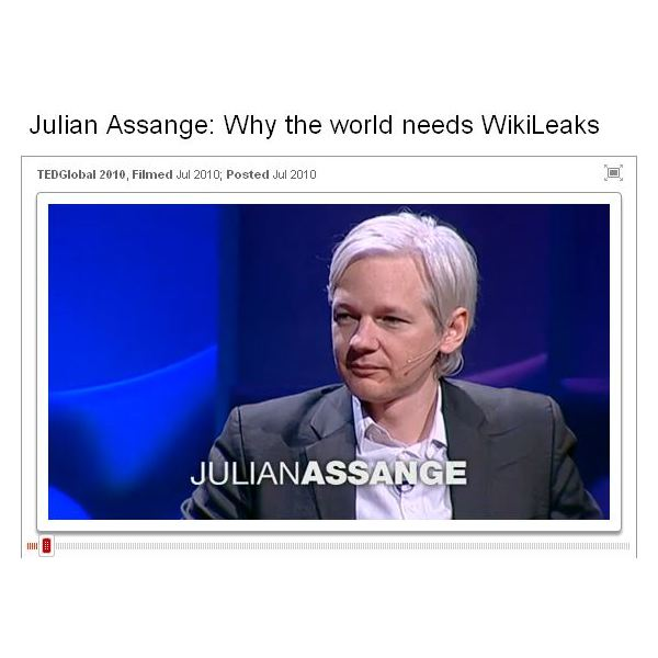 Screenshot Julian Assange Why the World Needs WikiLeaks