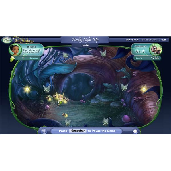 Pixie Hollow Firefly Light Up Game