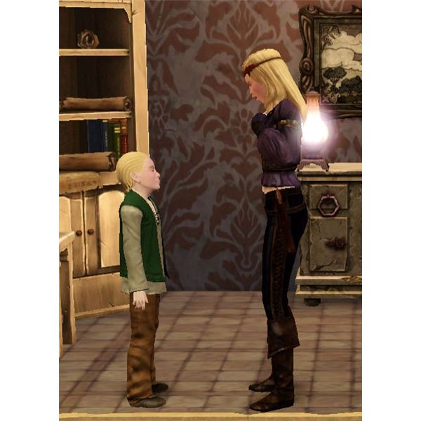 The Sims Medieval child and mother
