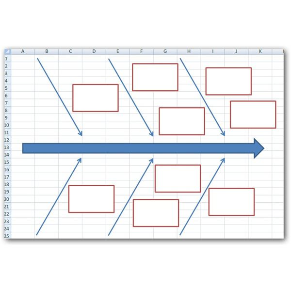 How to create a fishbone diagram in microsoft excel 2007 sample fishbone diagram layout ccuart Image collections