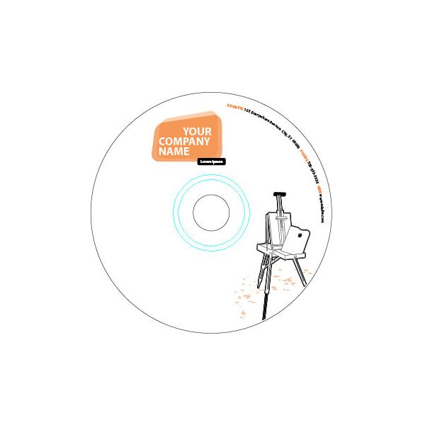 Use this template to prepare file for printing of stickers for standard CDs  with large hole.